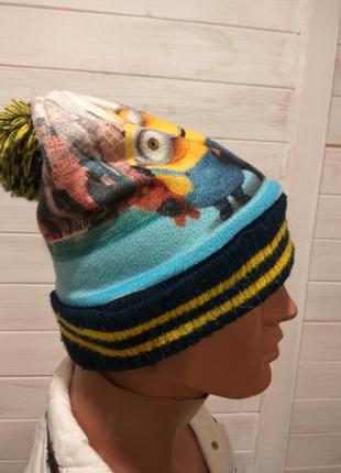 Детская зимняя шапка minions