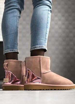 🌺женские зимние угги🌺ugg classic short dus, кожаные саплги/уги.