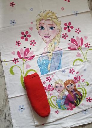 Комплект постельного белья в кроватку для девочки frozen холод...