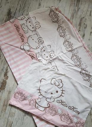 Комплект постельного белья в кроватку для девочки hello kitty