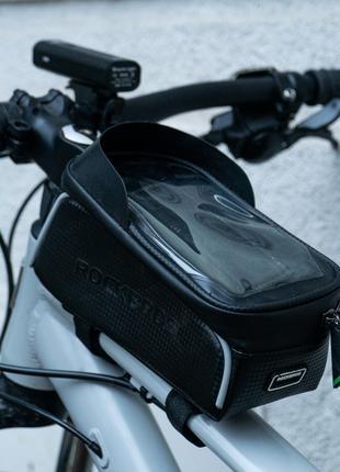 Сумка для телефону на велосипед раму RockBros