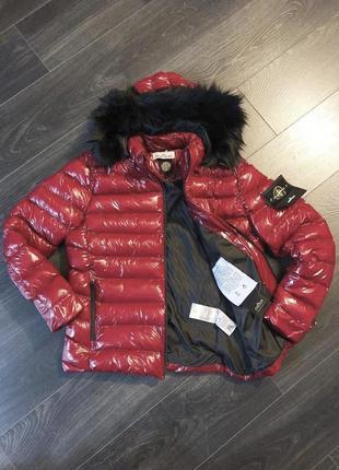 Куртка мужская stone island красная / курточка чоловіча парка ...