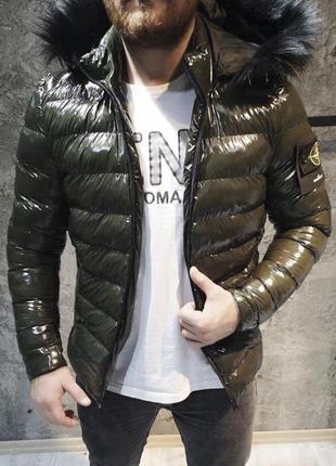 Куртка мужская stone island хаки / курточка чоловіча парка хак...