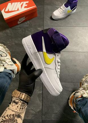 Nike air force 1 high violet white