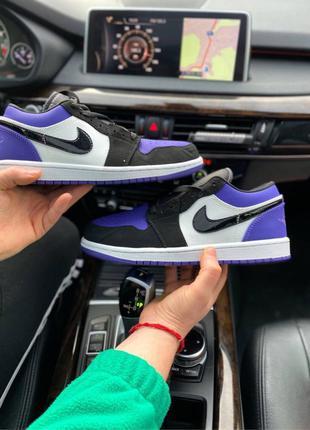 Air jordan 1 metro low court purple