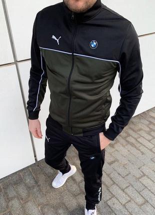 Спортивный костюм мужской puma bmw черный / комплект чоловічий...