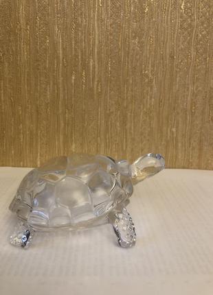 Хрустальная статуэтка черепаха (талисман)