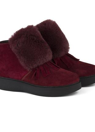 Зимние ботинки с опушкой