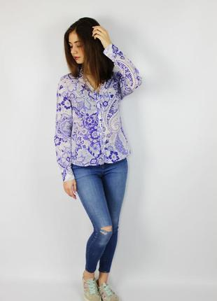 Идеальная блуза, рубашка с длинным рукавом в орнамент, цветочн...