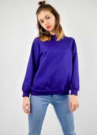 Фиолетовый однотонный свитшот, свободная кофта, реглан, худи, ...