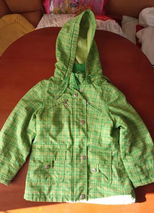 Куртка детская демисезонная для девочки, 110