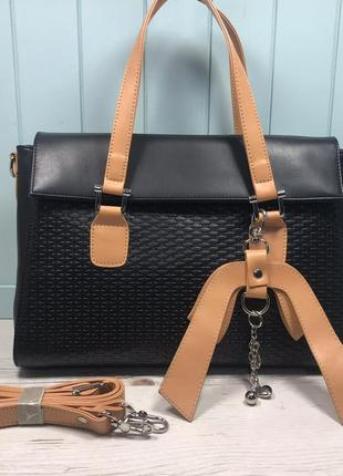 Женская стильная сумка goldfish черная  жіноча чорна