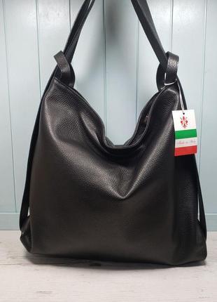 Женская кожаная сумка итальянская рюкзак жіноча шкіряна сумка ...