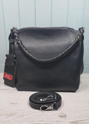Женская кожаная сумка polina & eiterou чюжіноча шкіряна