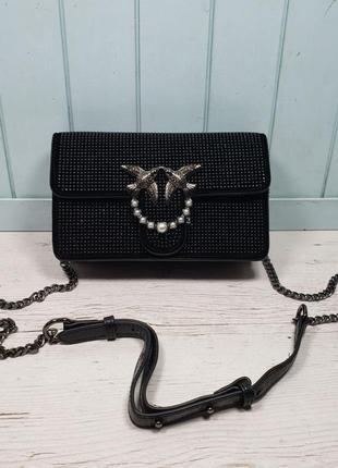 Женская кожаная сумка клатч черная жіноча шкіряна чорна