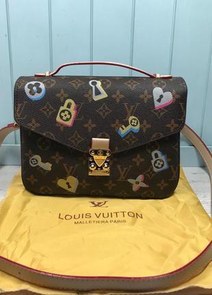 Женская сумка с принтом жіноча Louis Vuitton Metis Луи Виттон