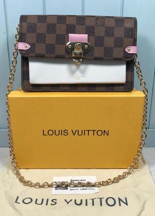 Женская сумка клатч жіноча на цепочке Louis Vuitton Луи Виттон