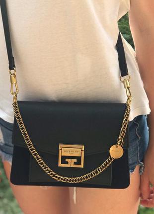 Женская кожаная сумка черная жіноча шкіряна Givenchy Живанши