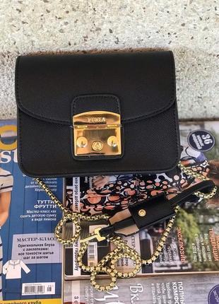 Женская кожаная сумка черная жіноча шкіряна чорна чёрная голуб...