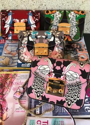 Женская кожаная сумка жіноча шкіряна Furla metropolis Фурла