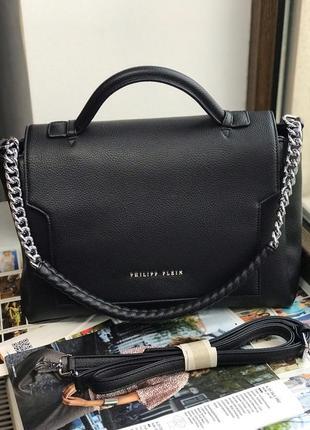 Женская сумка жіноча чорна чёрная Philipp Plein Филипп Плейн
