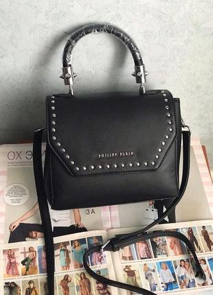 Женская сумка черная жіноча чорна Philipp Plein  Филипп Плейн