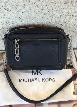 Женская сумка жіноча чорна черная с цепью Michael Kors Майкл Корс