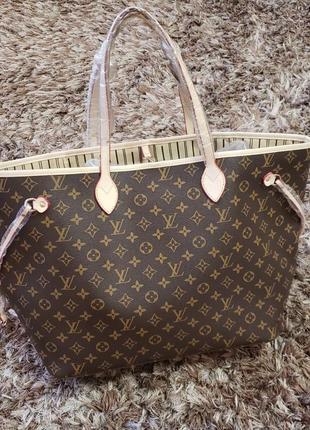 Женская большая сумка жіноча велика Louis Vuitton neverfull