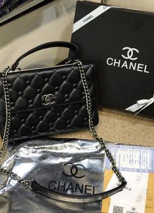Женская сумка Chanel Шанель жіноча чорна чёрная