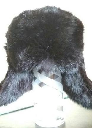 Шапка ушанка хутряна кролик розмір ~47-50 б. в.