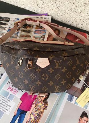Женская сумка Louis  Vuitton Луи Виттон  на пояс бананка