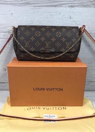 Женская кожаная сумка клатч Louis  Vuitton жіноча шкіряна