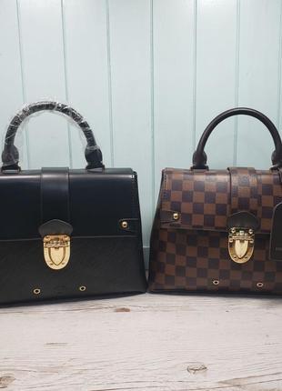 Женская сумка Louis  Vuitton Луи Виттон черная коричнева жіноча
