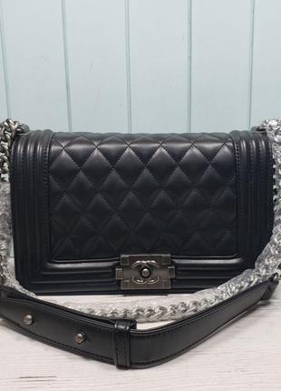 Женская сумка Chanel Шанель черная чорна  жіноча