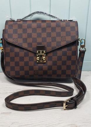 Женская сумка Louis  Vuitton Луи Виттон жіноча коричневая