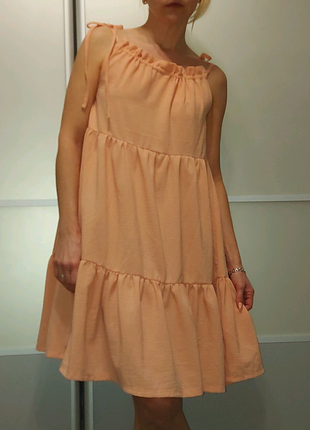 Ярусное платье сарафан миди Primark