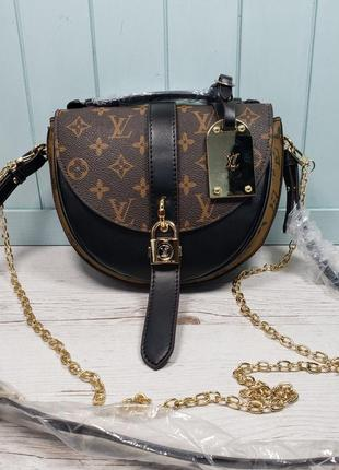Женская сумка Louis  Vuitton Луи Виттон  жіноча полукруг