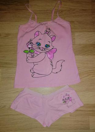 Комплект белье майка и трусики для девочки, р.9-10/134  pink s...