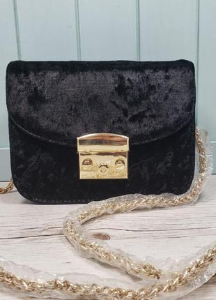 Женская маленькая сумка Furla Фурла черная жіноча маленька чорна