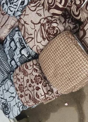 Чехлы на табуретки/4шт/подушки на стулья на завязках