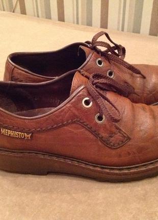 Кожаные, конкретно - основательные туфли бренда mephisto, р. 41