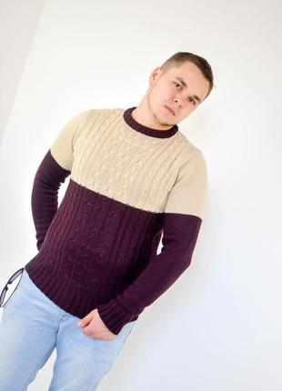 "Soulstar джемпер колор-блок с узором ""в косичку"", кофта, свитер"