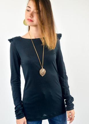 Cos темно-серый джемпер с оборками на плечах из лиоцелла, кофта