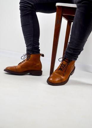 Charles tyrwhitt светло-коричневые кожаные ботинки на шнуровке...