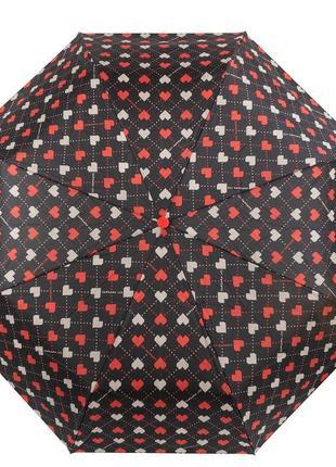 Зонт женский механический barbara vee в сердечках
