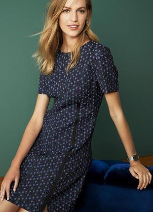 Жаккардовое полуприталенное мини платье /  3d текстуроване пла...
