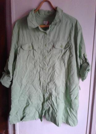 Рубашка-платье. натуральная ткань. 50 размер.