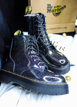 Женские кожаные ботинки dr.martens на меху,сапоги на замке и ш...