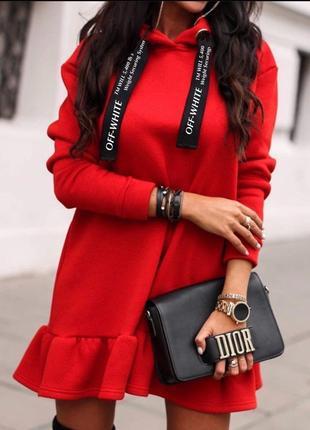 Женское красивое теплое платье