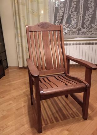 Крісло дерев'яне Indigo Прованс меранті